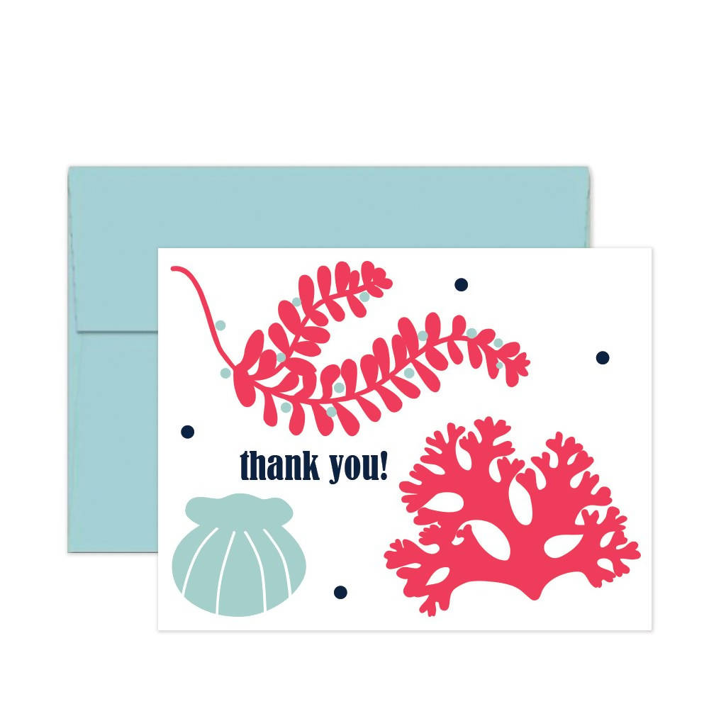Notecards - Shells & Seaweed Set of 8