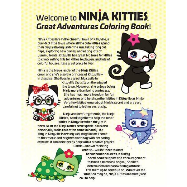 Ninja Kitties Great Adventures Coloring Book
