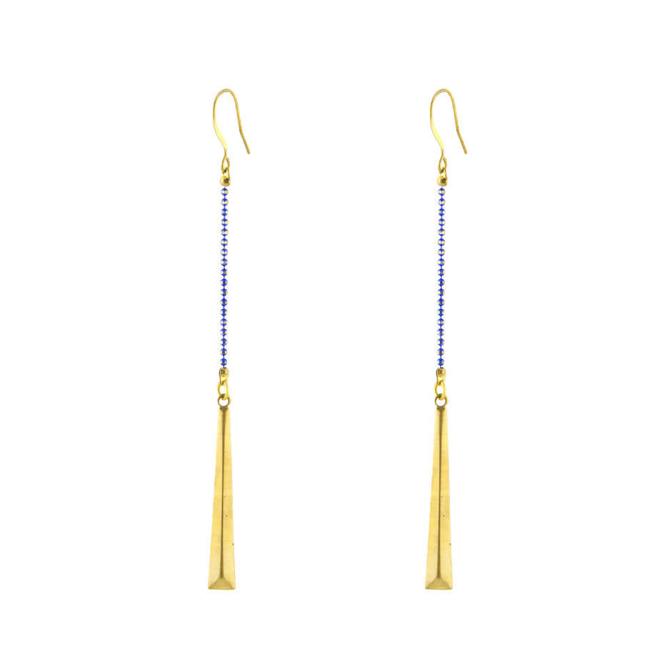 Narrow Triangle Earrings