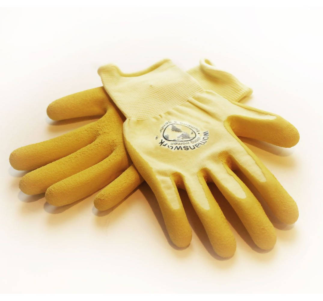 Yellow Latex Weeder Glove (with pale yellow shell)