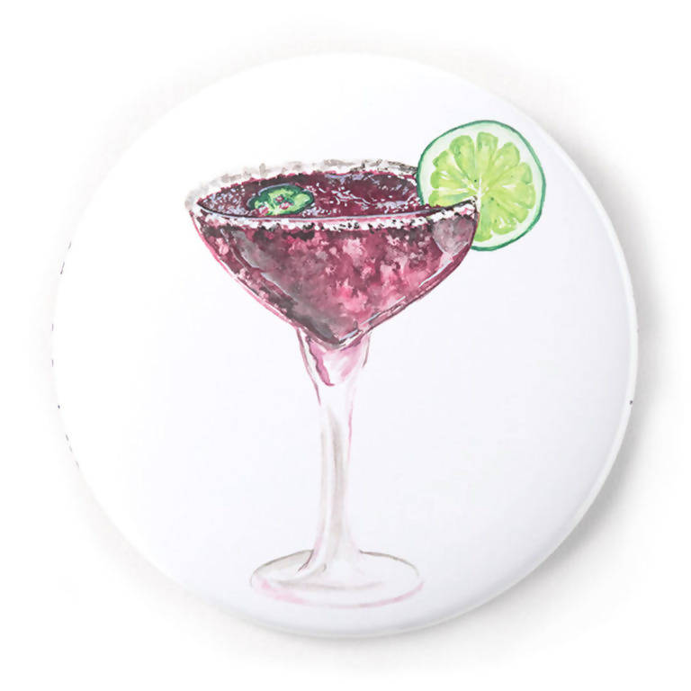 Blackberry Margarita 2 Inch Pin-Back Button
