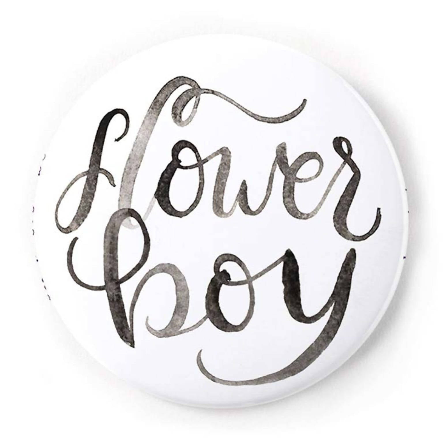 Flower Boy 2 Inch Pin-Back Button