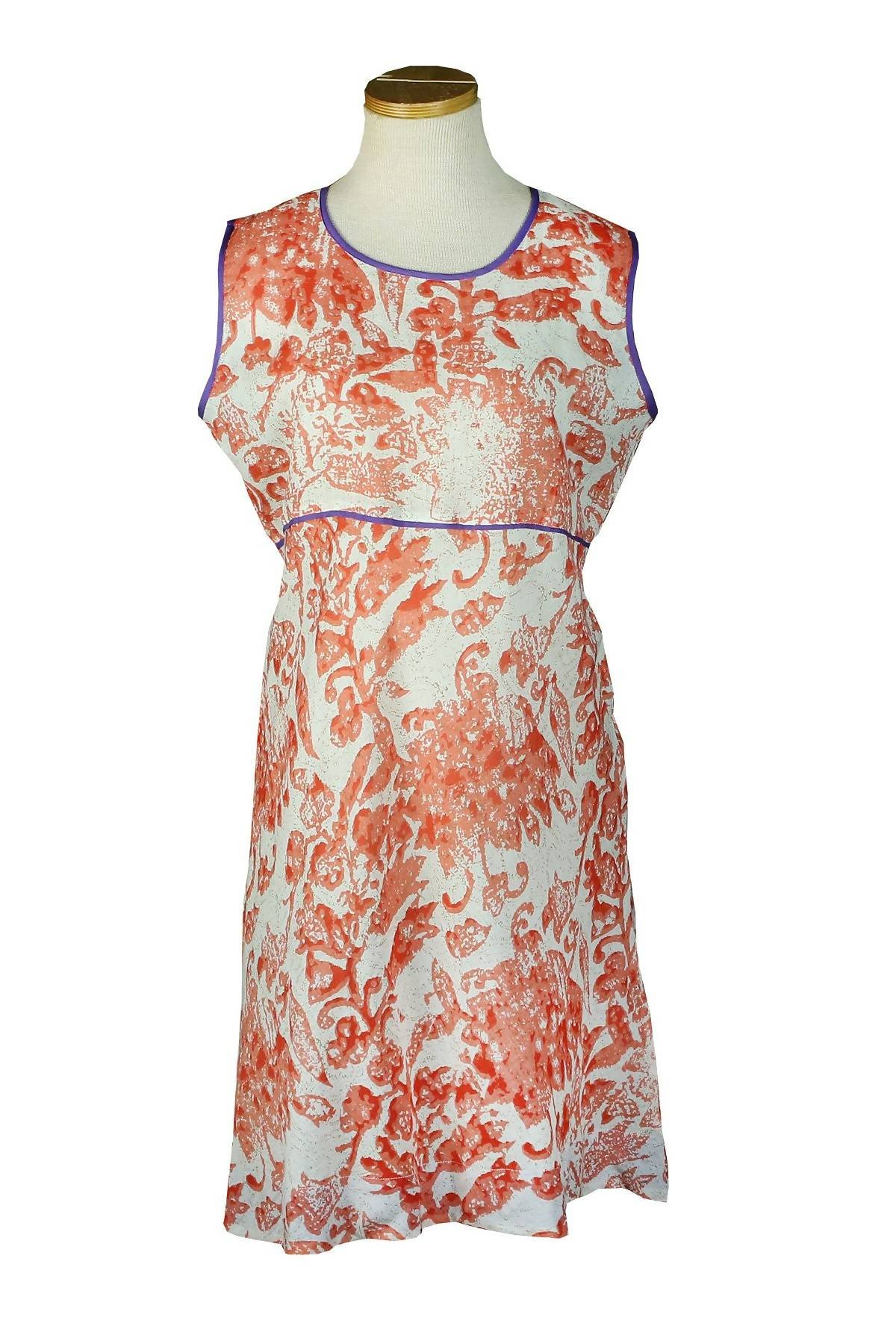 Sleeveless Holi Dress Coral