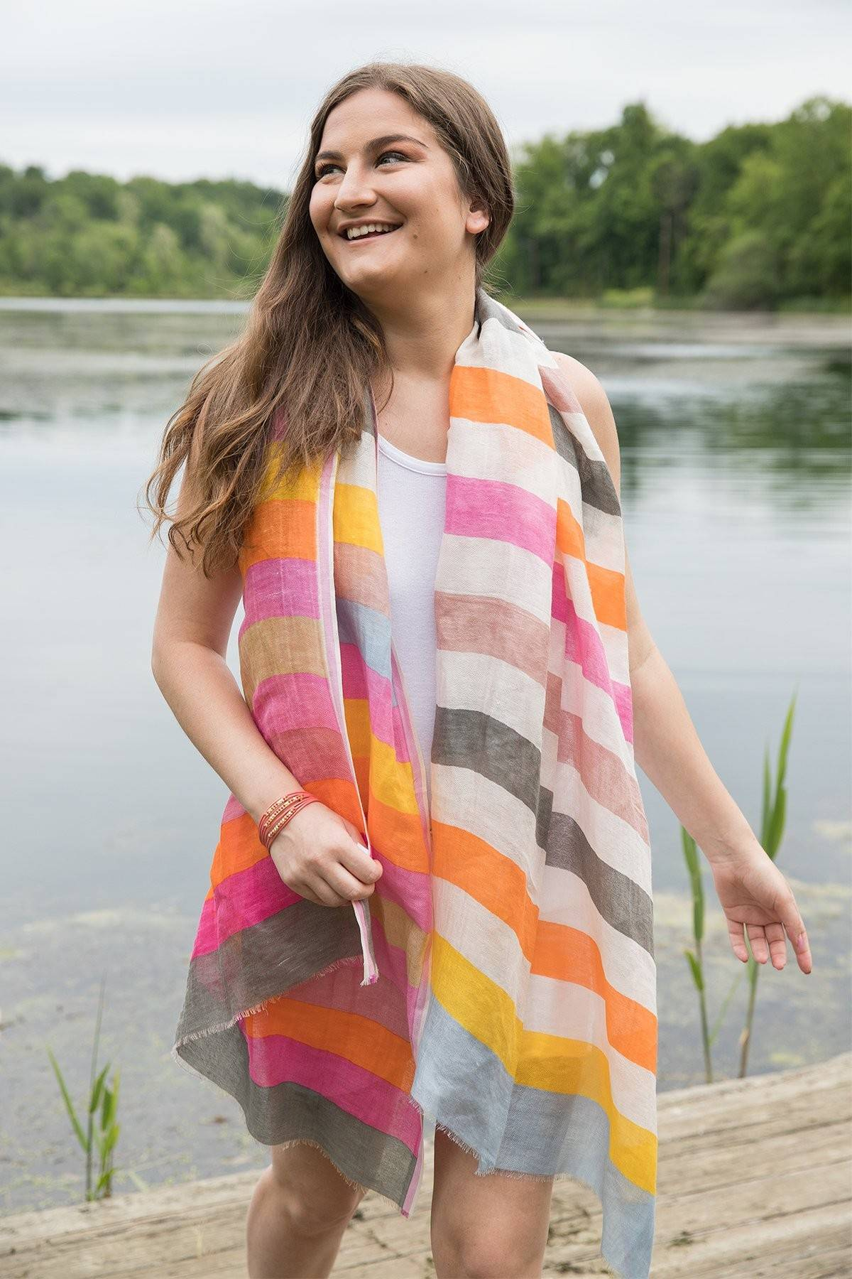 Beachball Stripe Scarf