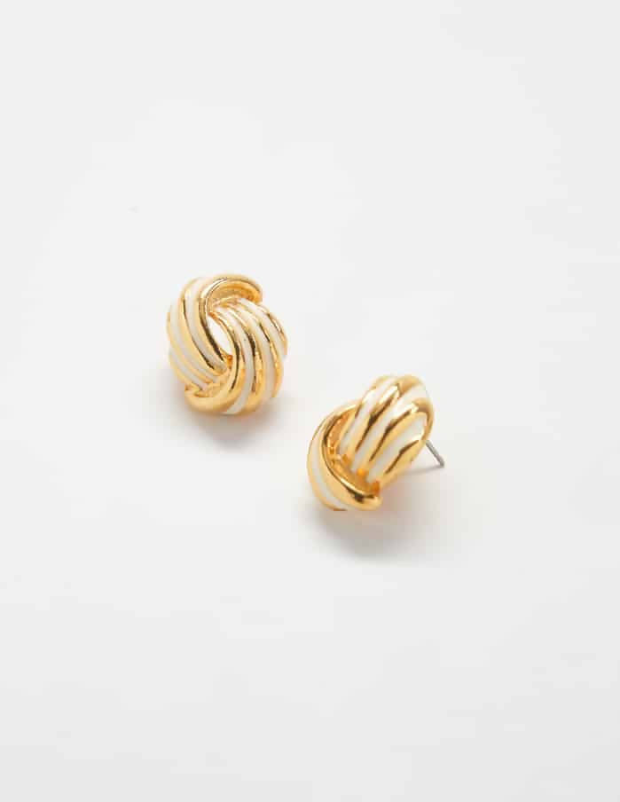 Knot Napier Vintage Earrings