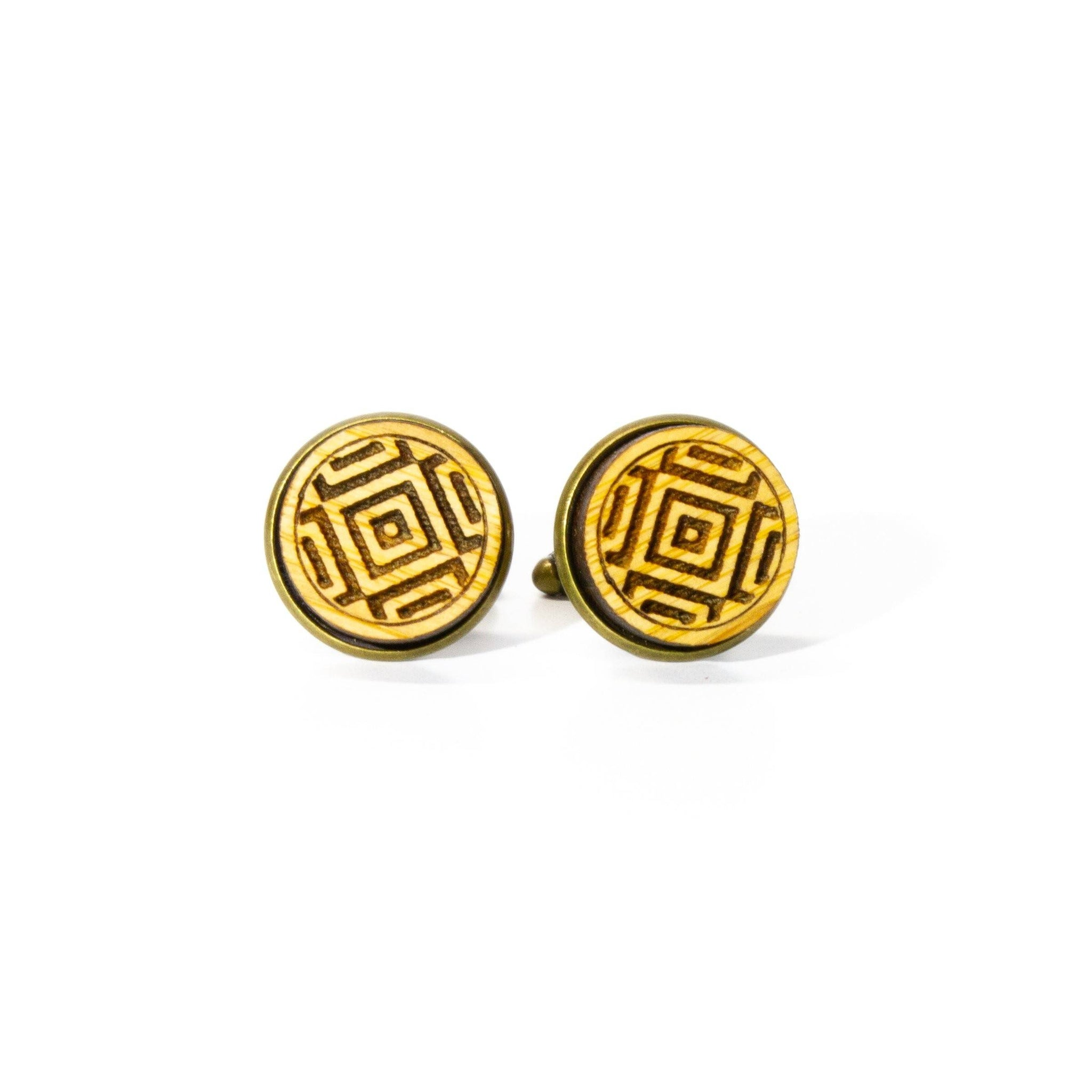 Square Flair: Bamboo Cufflinks