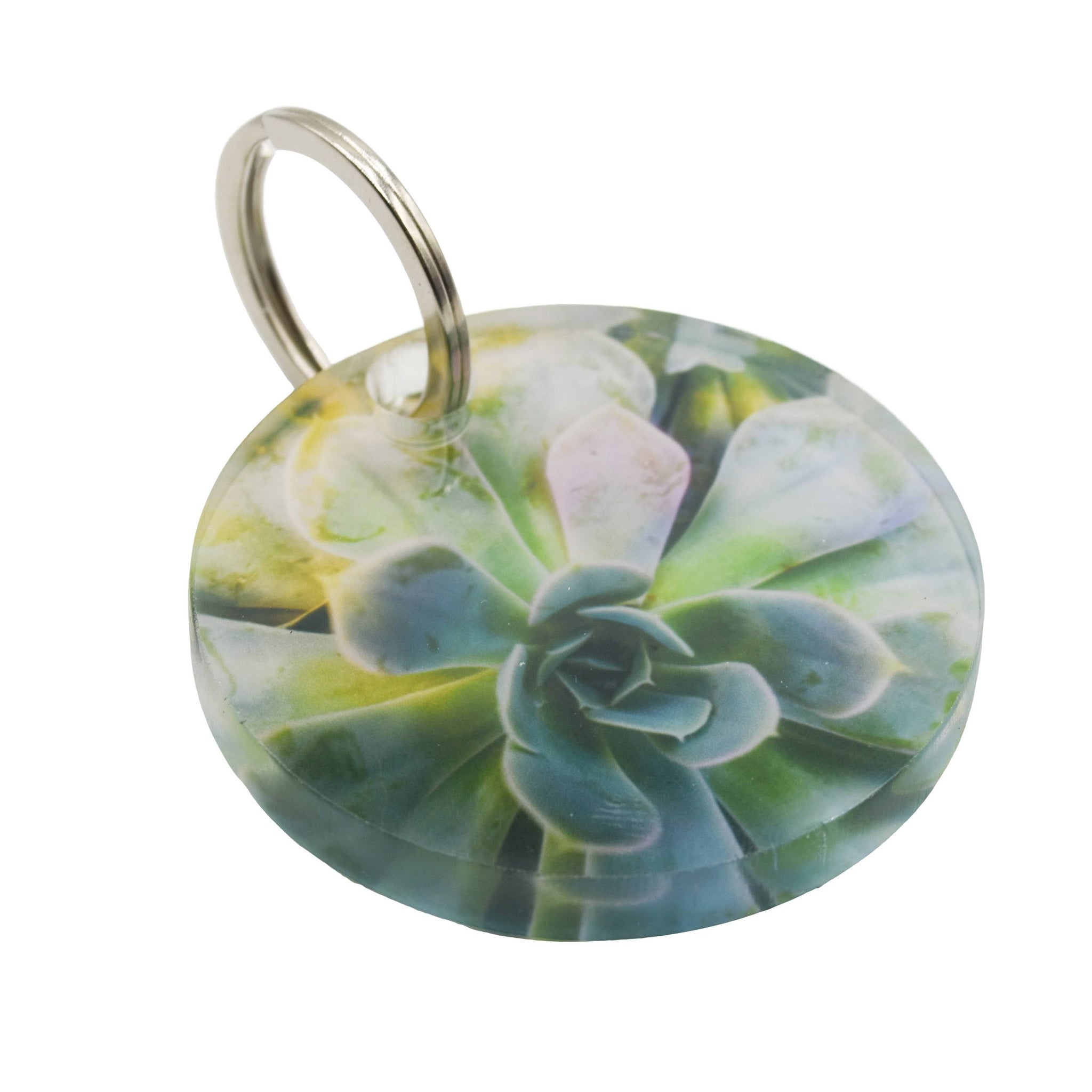 Enchanted Succulent Keychain