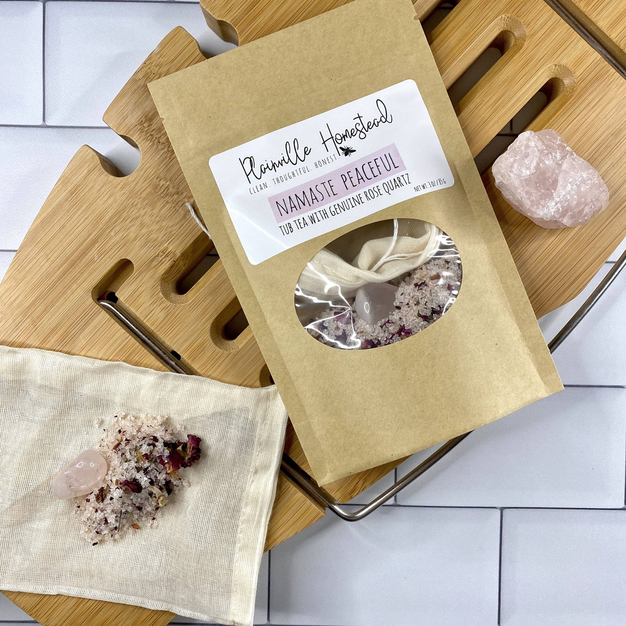Namaste Peaceful Tub Tea | Bath Tea | Rose Quartz