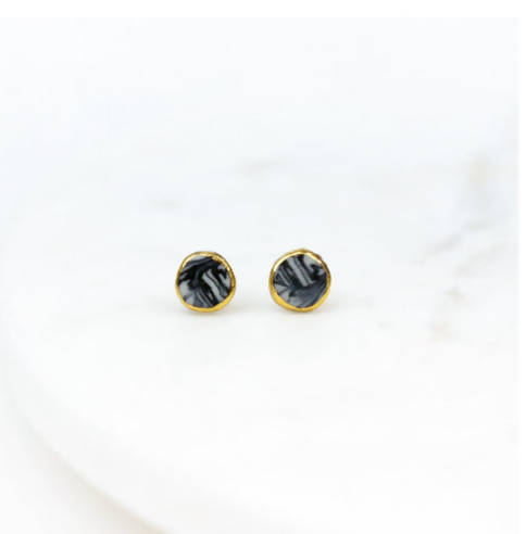 Marble Halo Studs