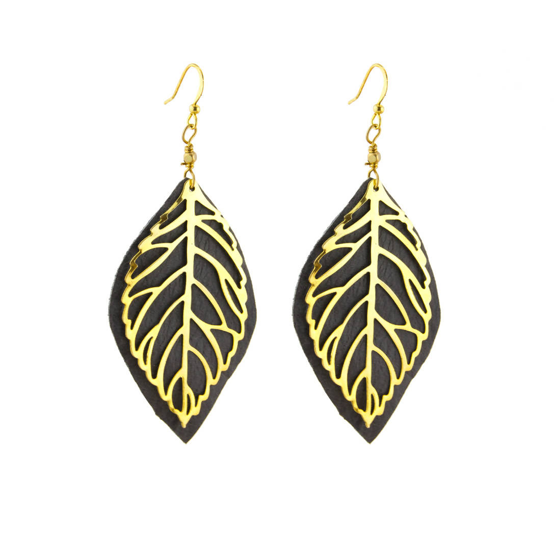 Layer Leaf Earrings