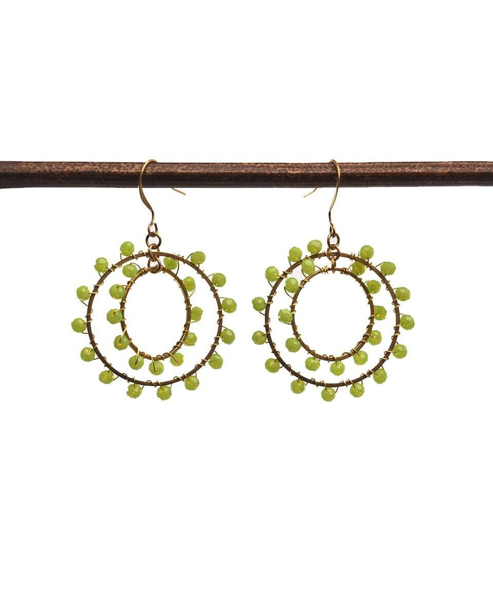 Concentric Beaded Earring with Tassels