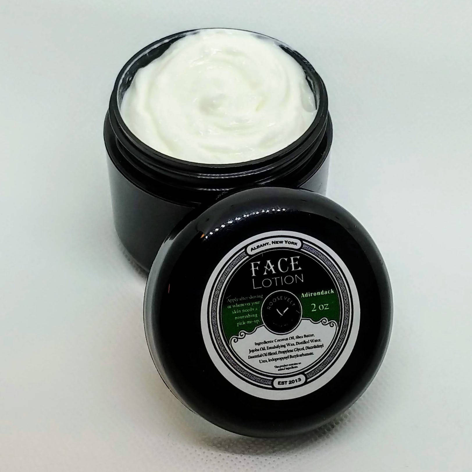 Creamy and Soothing Handcrafted Men's Face Lotion - 1oz, 2oz or 4oz - Refines, Protects, Smooths, Moisturizes