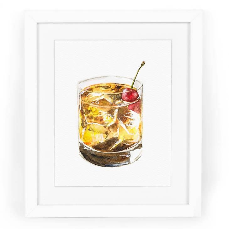 Bourbon Cherry Smash Art Print