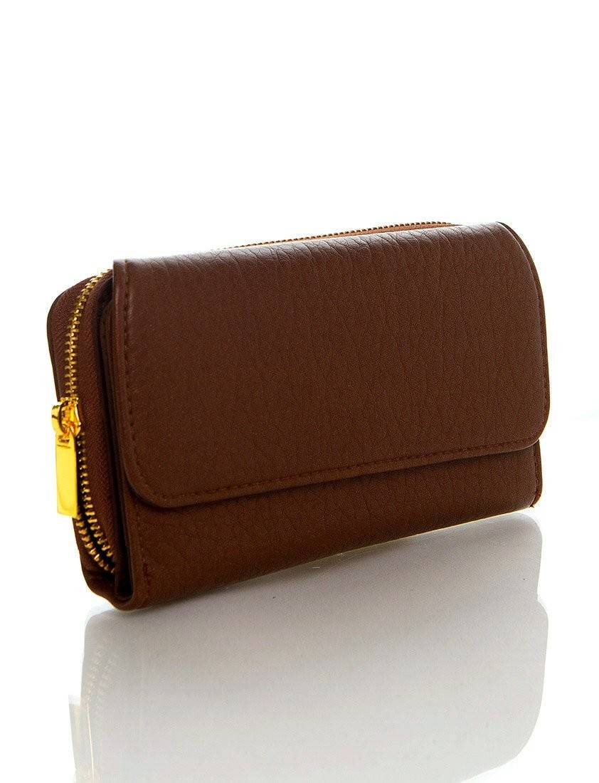 Zip Around Continental Wallet - Light Brown