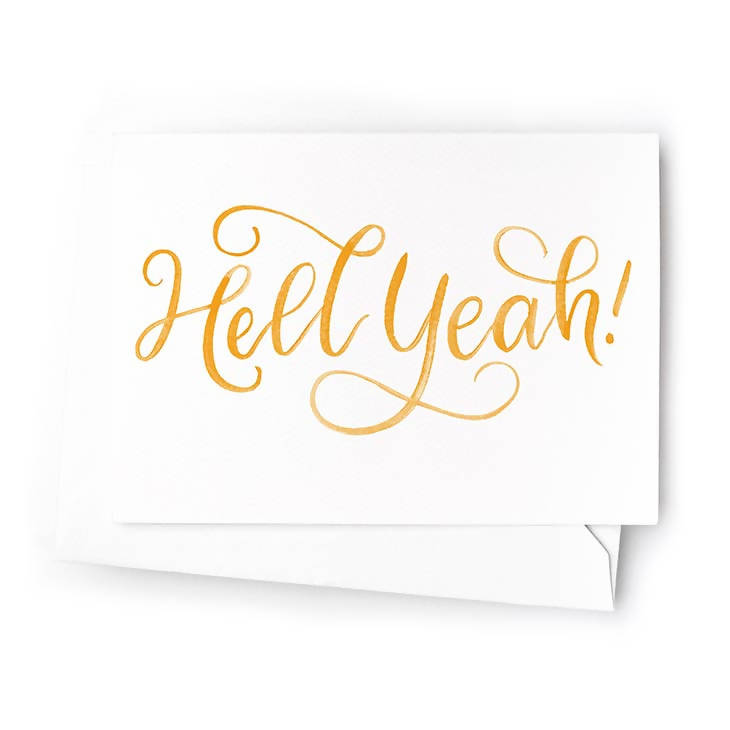 Hell Yeah Mini Cards, Set of 6