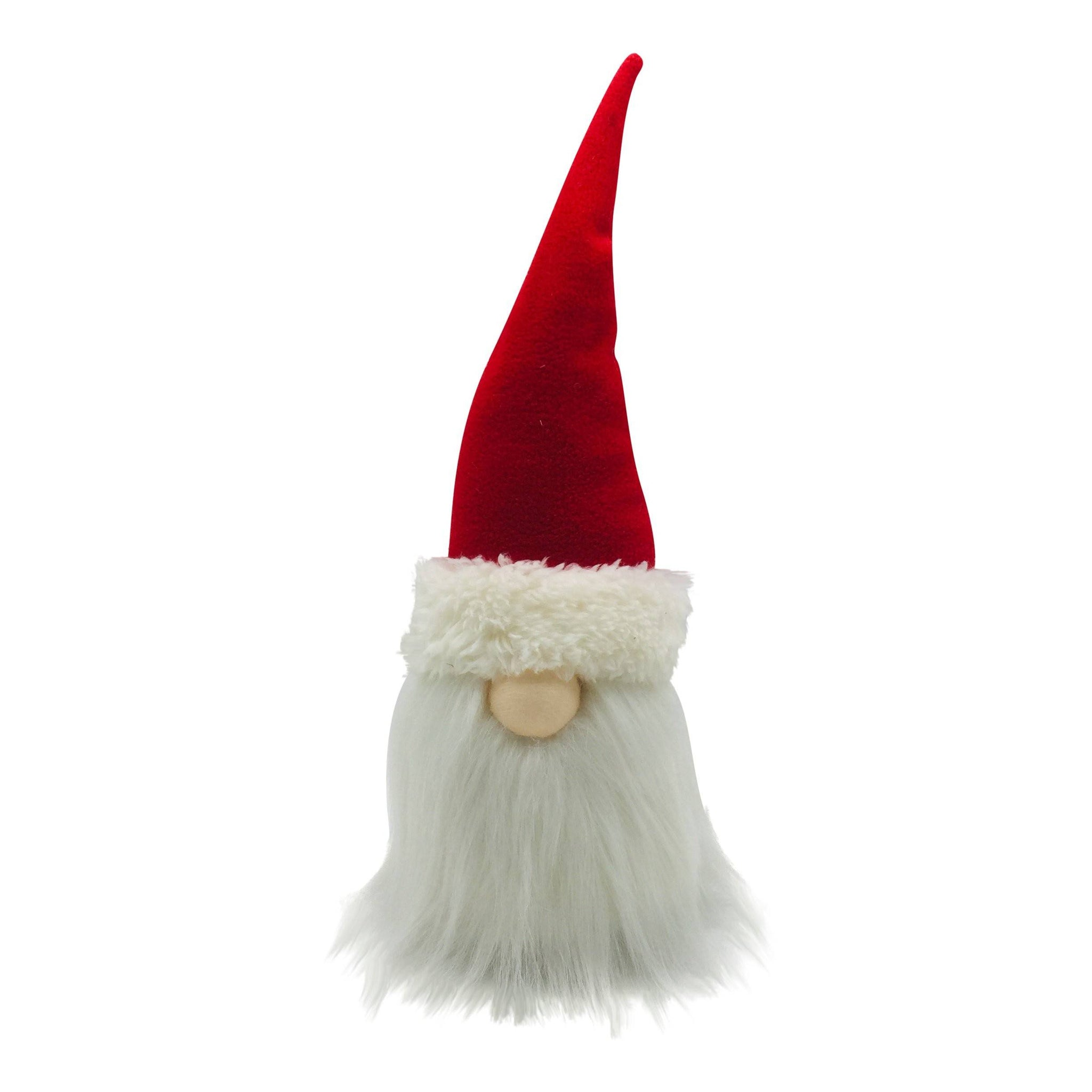 RED FABRIC SANTA DECORATION