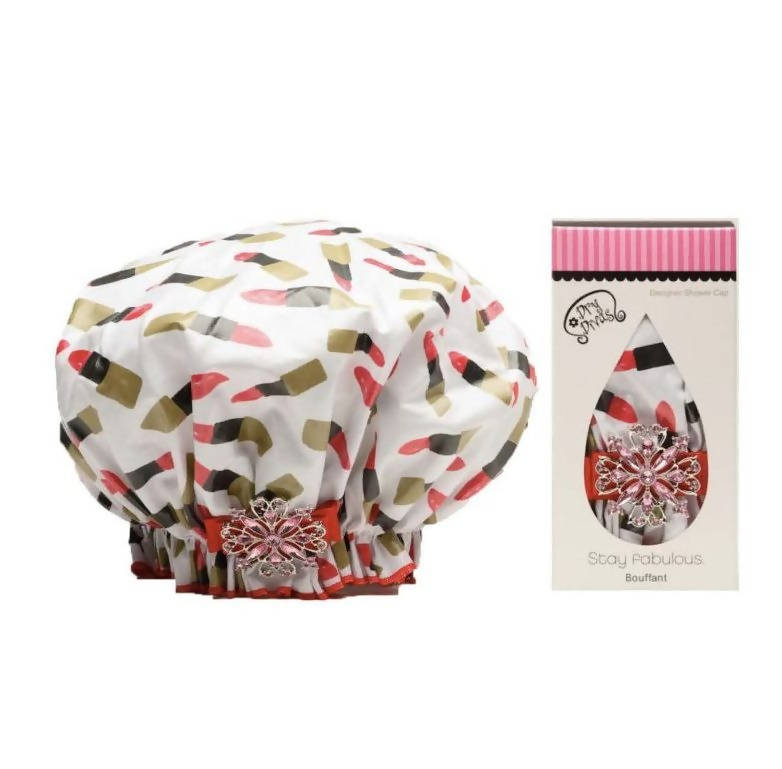 Pucker Up Bouffant Shower Cap
