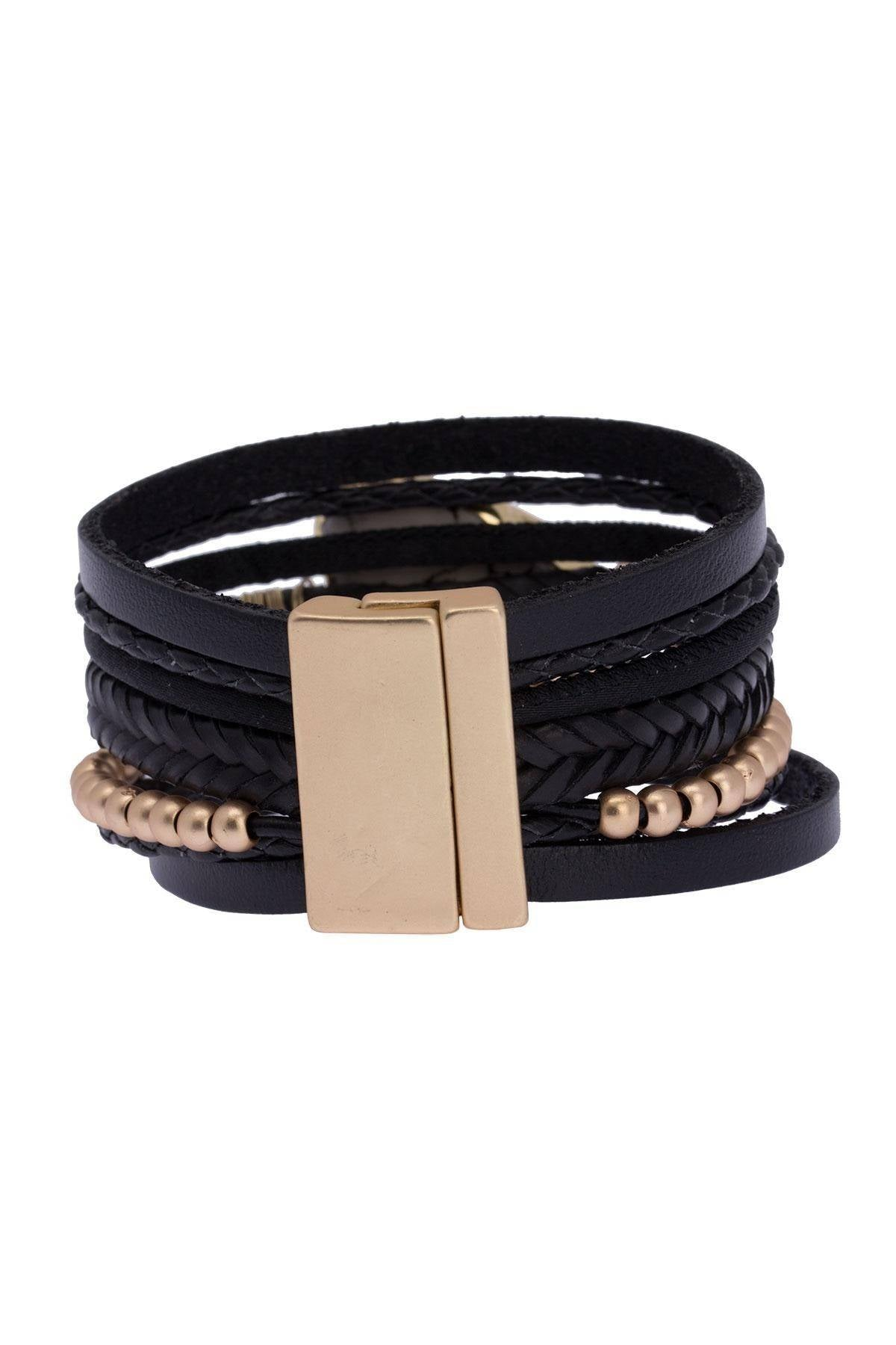 Marble Braid Leather Bracelet