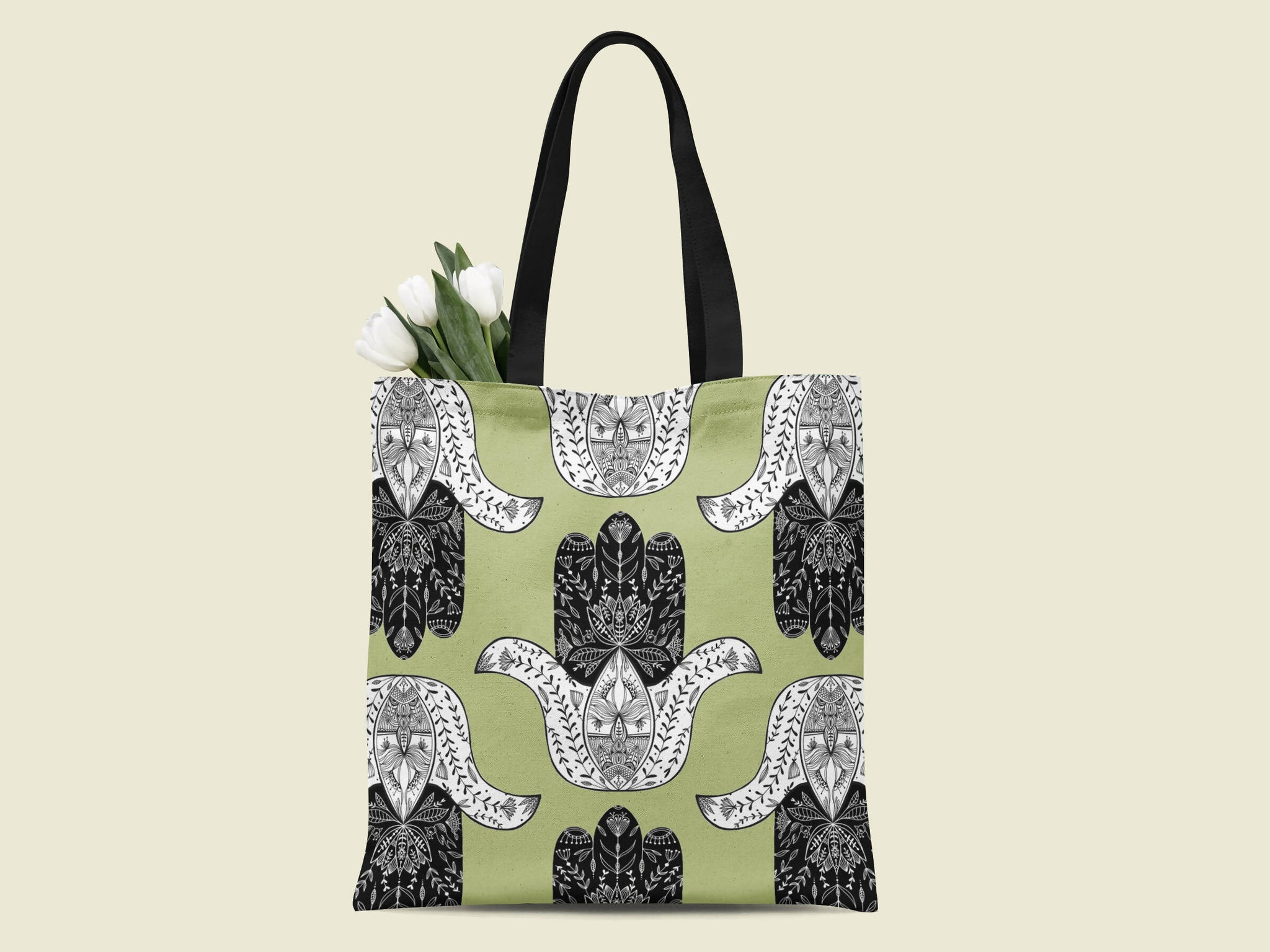 HAMSA CANVAS TOTE BAG