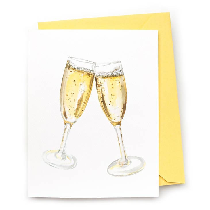 Champagne Cheers Note Card, Set of 8