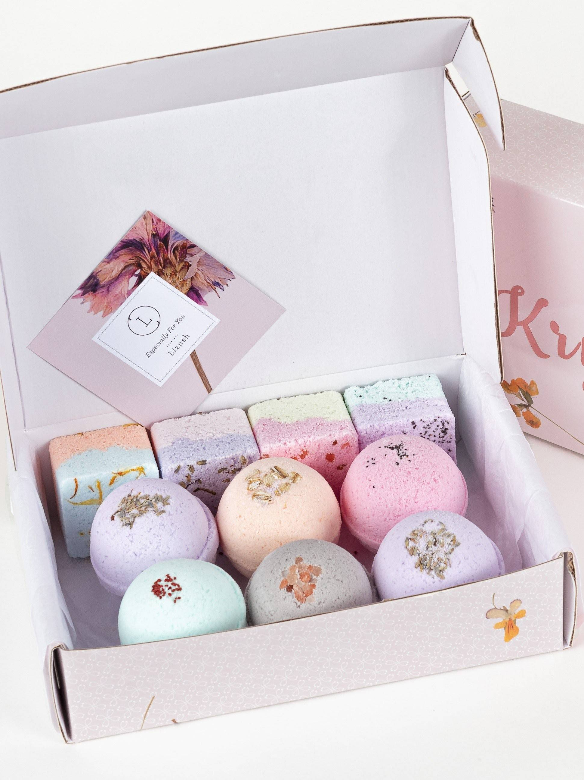 Natural Bath Bombs and Shower Steamers Set