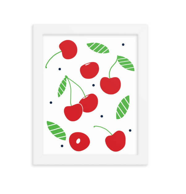 Art Print - Cherry & Leaves