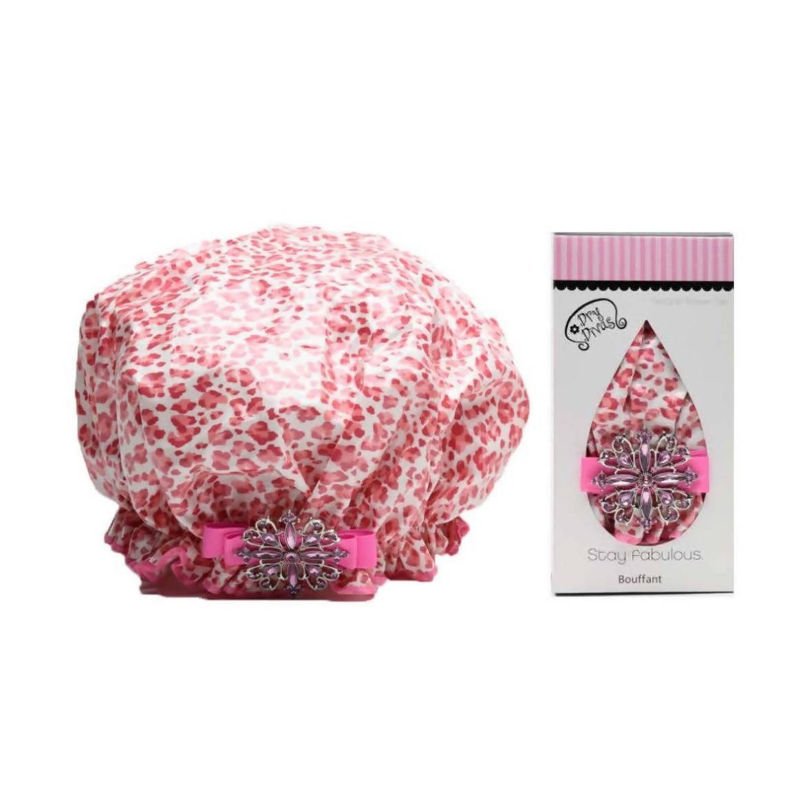 Cheetah-licious Bouffant Shower Cap