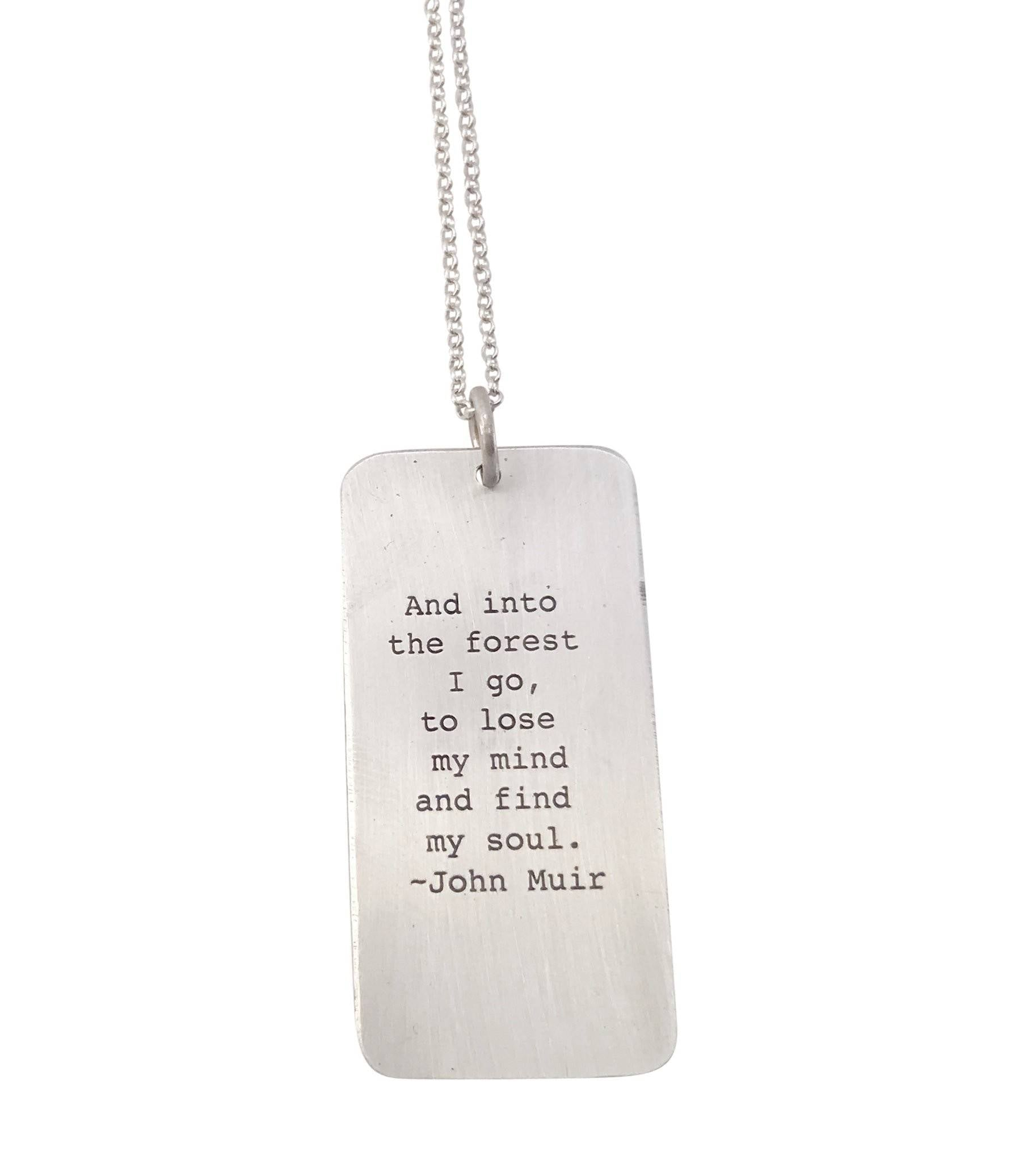 Thistle Pendant with John Muir Quote