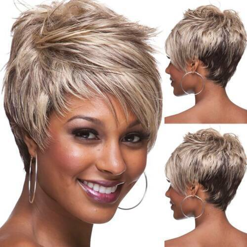 Short Straight Layered Hair for African American