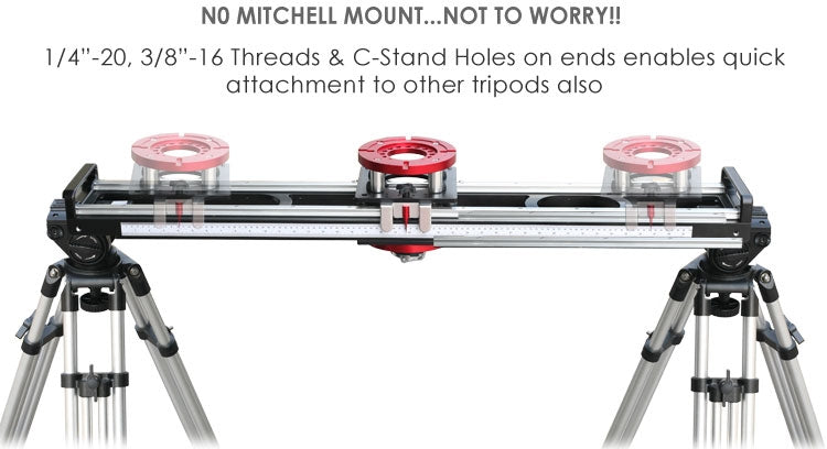mitchell mount 4ft & 6ft ball bearing camera slider