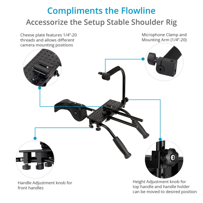 Flycam Flowline Starter for Camera & Gimbals (3-7.5kg/6-16lb) with Shoulder Rig