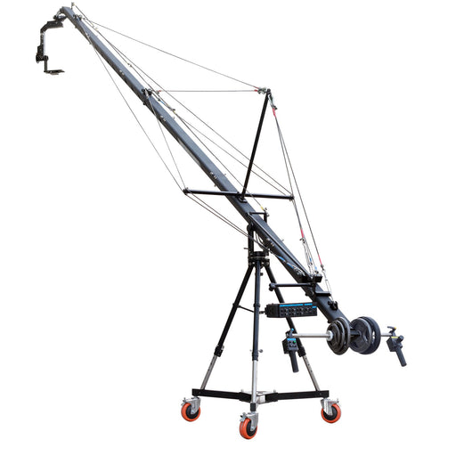 Proaim 24ft Fraser (PF-4TR) Jib  crane with PT-1000 Pan tilt head, Gravity Stand and Anchor Dolly