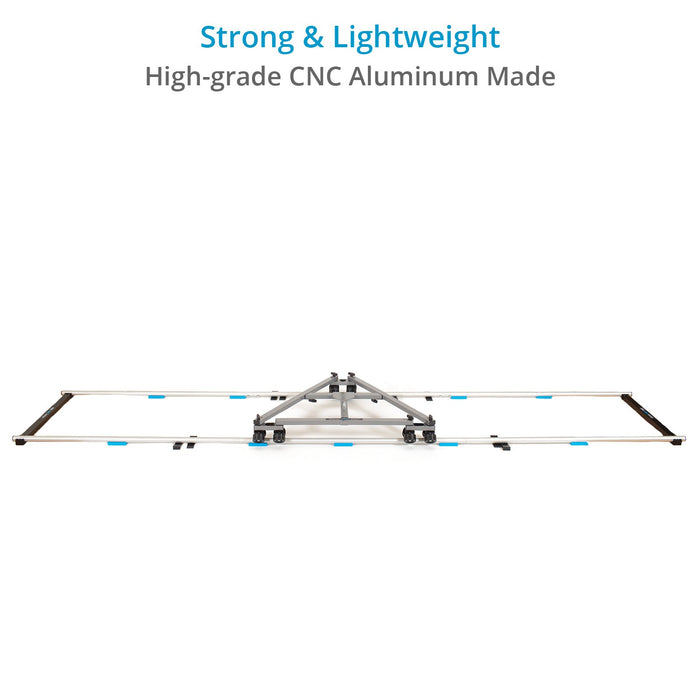 PROAIM 12ft Straight Aluminum Camera Dolly Track, ⌀ 32mm