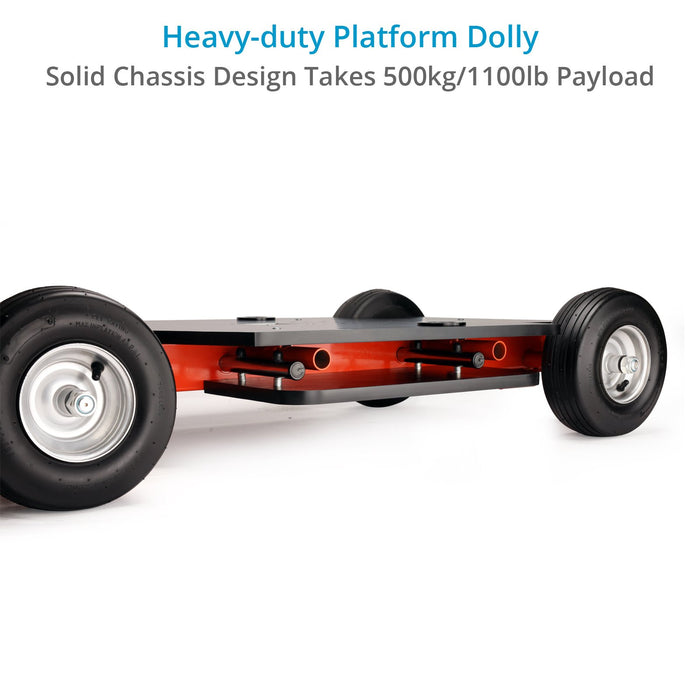 Proaim Quad Super Bazooka Film Camera Doorway Dolly | Rear-Wheel Steering