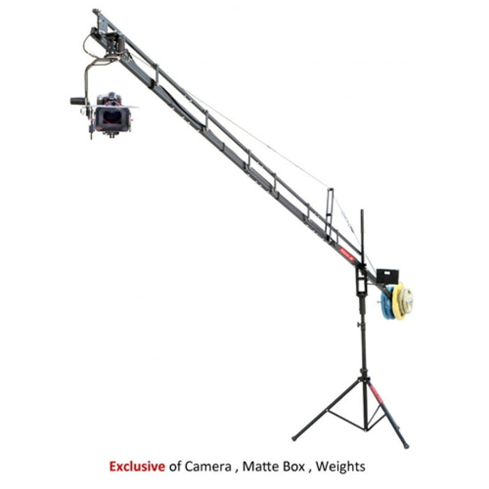PROAIM 18ft Camera Crane with Jr. Pan and Tilt Head, Tripod Stand and 12V Battery Pack