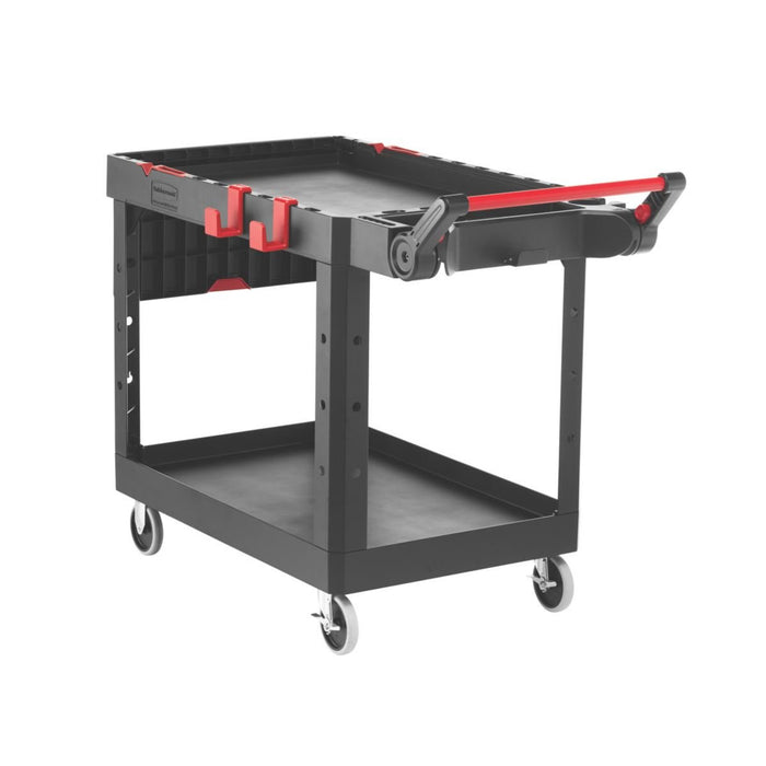 Rubbermaid Commercial Products Heavy Duty Adaptable Utility Cart (Black, Medium)