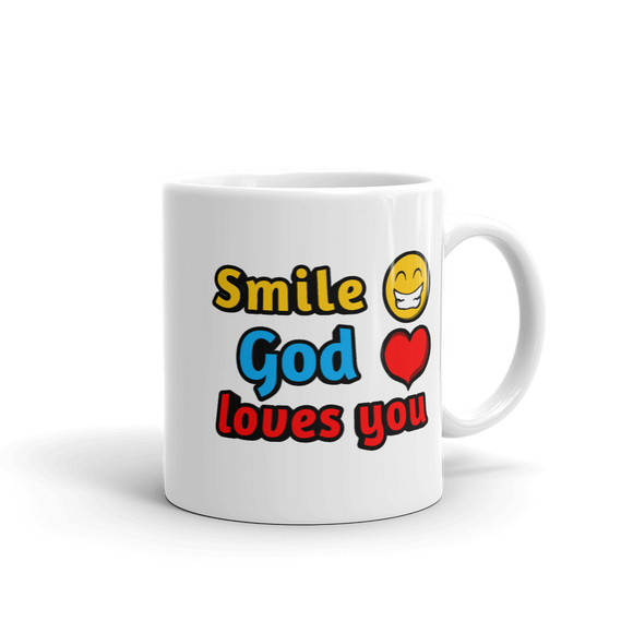 Smile, God Loves you (Mug)