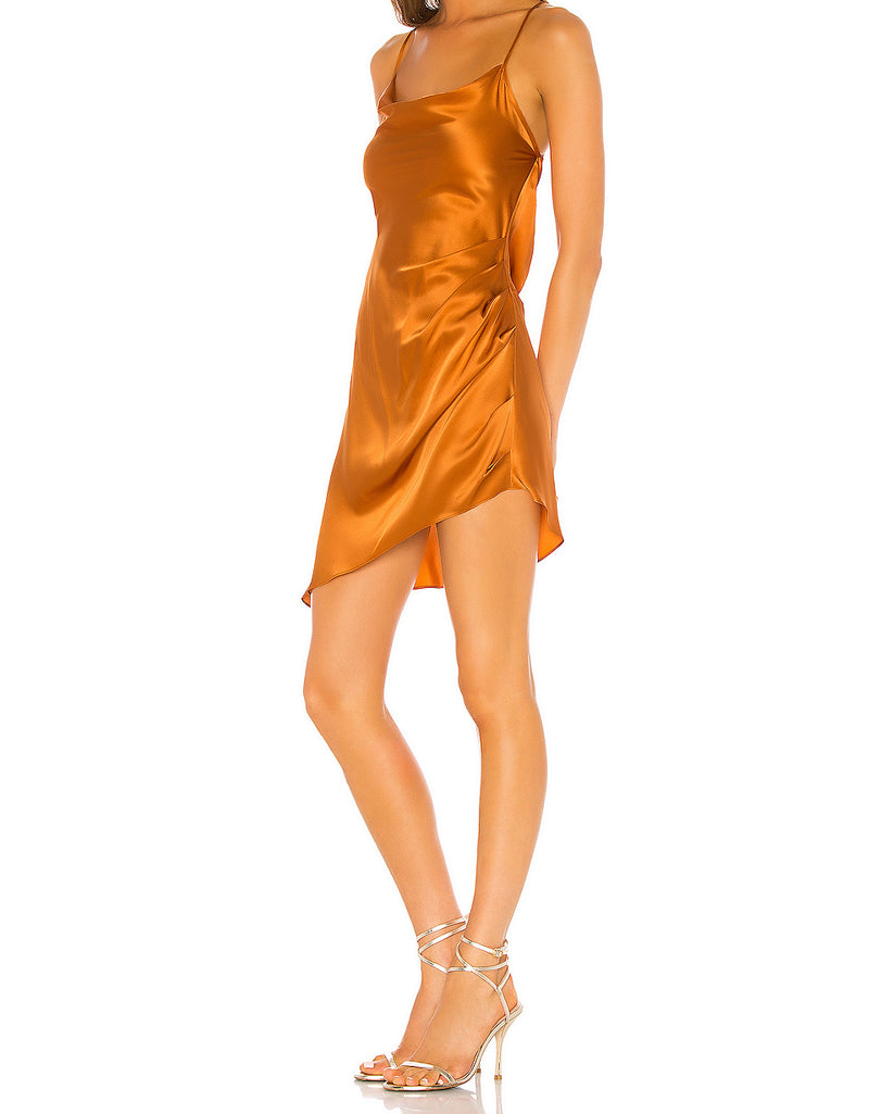 Violetta Dress - Cognac