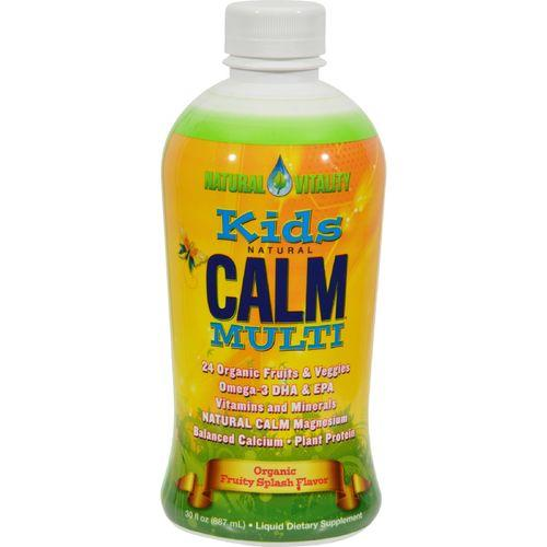 Natural Vitality Kid's Natural Calm Multi Fruity Splash - 30 fl oz