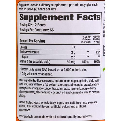 Hero Nutritionals Yummi Bears Vitamin C - 132 Gummy Bears