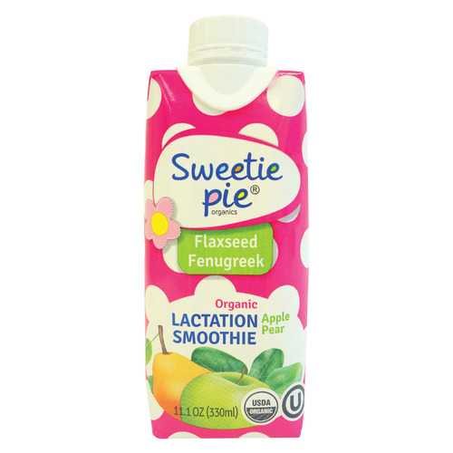 Sweetie Pie Smoothei - Organic - Lactation - Apple Pear - Case of 12 - 11.1 oz