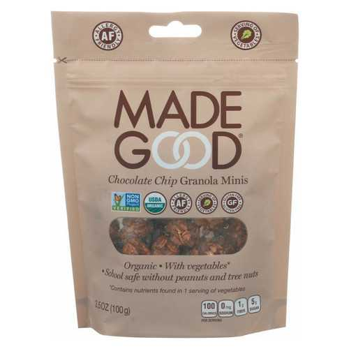 Made Good Granola Minis - Chocolate Chip - Case of 6 - 3.5 oz.