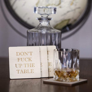 Don't F**k Up The Table Coasters (Pack of 4)