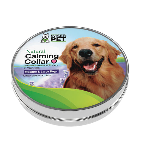 Wiser Pet Calming Collar for dogs - relax and sooth stressed or anxious pets