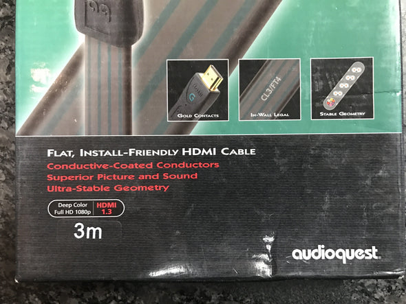audioquest hdmi g flat install friendly hdmi cable