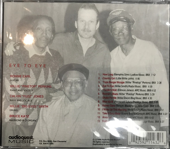 "Audioquest ""Eye to Eye"" Ronnie Earl/Pinetop Perkins/Calvin Jones/Willie Smith CD"