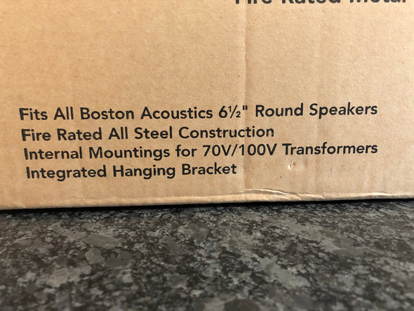 boston acoustics FRB6R fire rated metal speaker enclosure