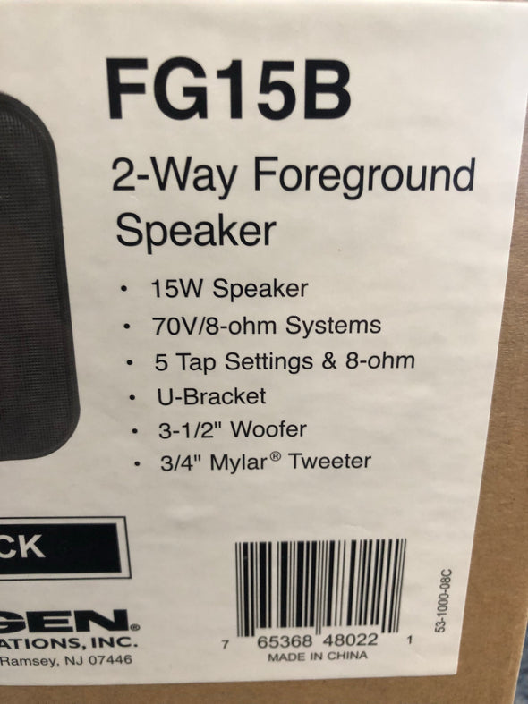 bogen FG15B 2-Way foreground speaker black