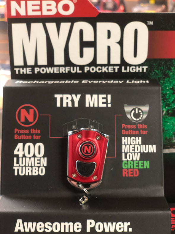 nebo mycro rechargeable 400 lumens keychain flashlight