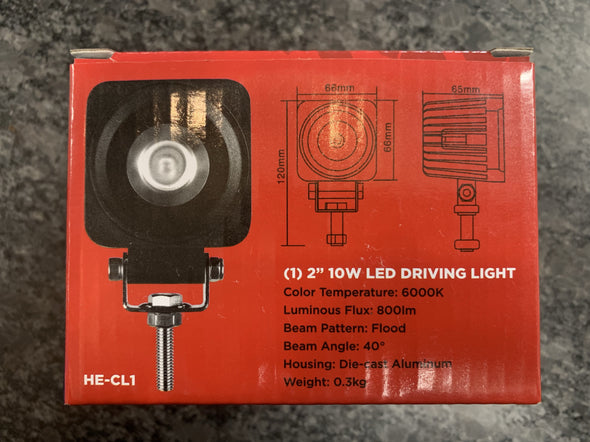 heise he-cl1 10 watt led driving light